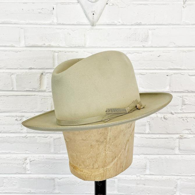 Size 7 1/8 Vintage 1960s Stetson Open Road Fur Felt Fedora by BriarVintage