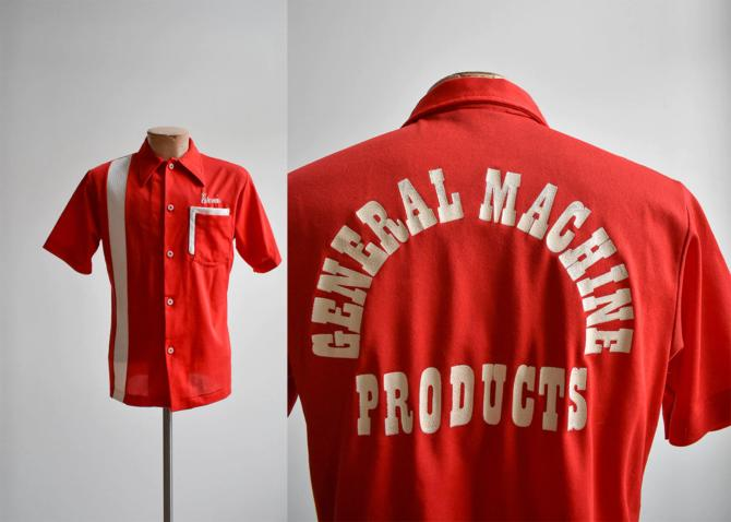 Vintage Red Bowling Shirt by milkandice