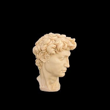 Vintage 1960s Classic Italian Cast Marble & Resin Sculpture of Head Bust of David Italy by SANTINI by SwankyChaperooo