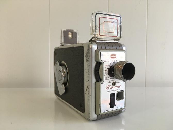 Vintage Kodak Brownie 8mm Movie Camera 1950s Made in the USA Film 1960s by CheckEngineVintage