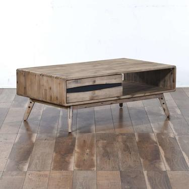 Contemporary Mid Century Style Coffee Table W Storage