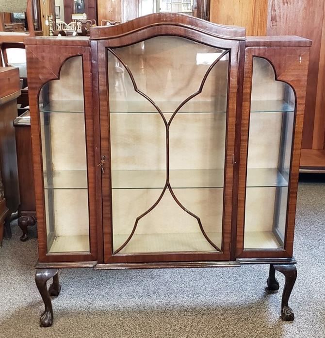 Item #S2032 Mahogany Display Cabinet c.1920