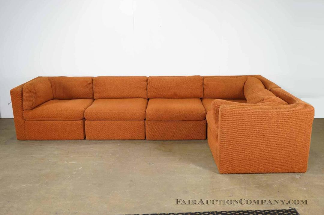 Milo baughman for thayer coggin sectional sofa from fair for Sectional sofa furniture fair
