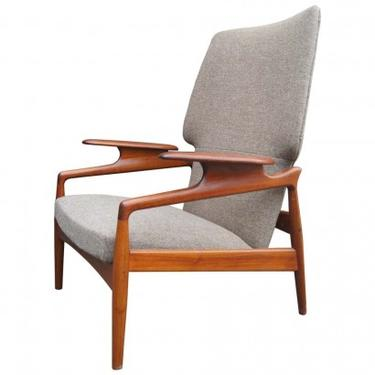 Reclining Teak Lounge Chair by John Boné
