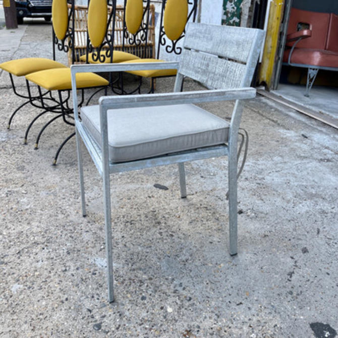 Outdoor Weathered Wood Armchair
