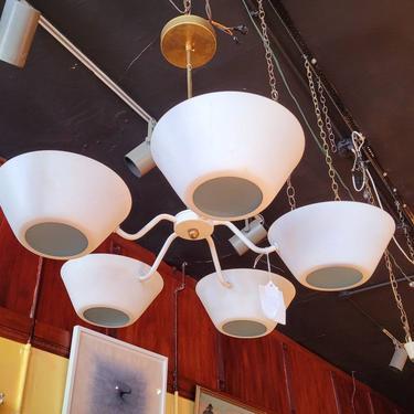 Mid century Chandelier Ceiling Fixture by LazyDogAntiqueStore