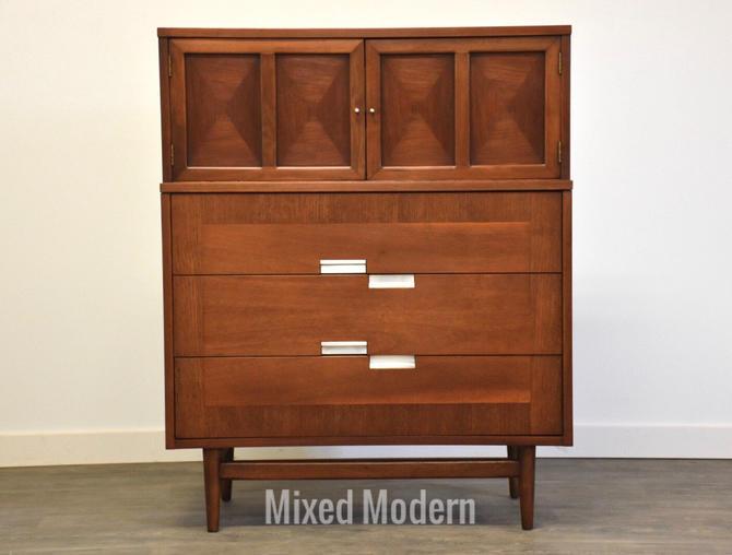 American of Martinsville Walnut and Aluminum Dresser by mixedmodern1