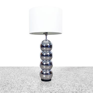 George Kovacs Stacked Chrome Ball Table Lamp by JefferyStuart