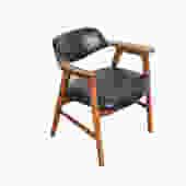 Arm Chair  Walnut  mid century modern 60s Gunlocke Chair Co. by HearthsideHome