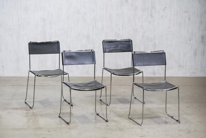 Chrome & Leather Chairs