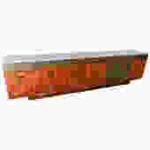 Bernardo Figueiredo Long Brazilian Rosewood Sideboard & Dry Bar with Lighted Onyx Top