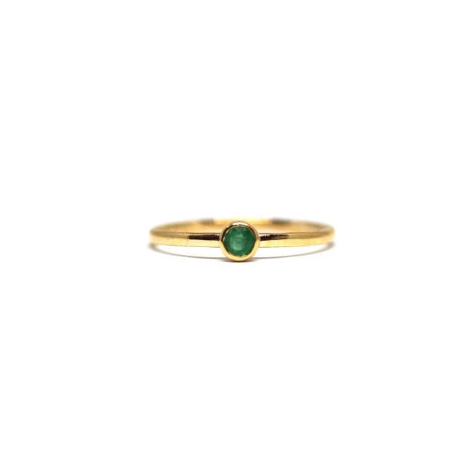 Emerald Birthstone Stacking Ring