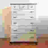 Stylish Black & Gray 8-drawer Dresser