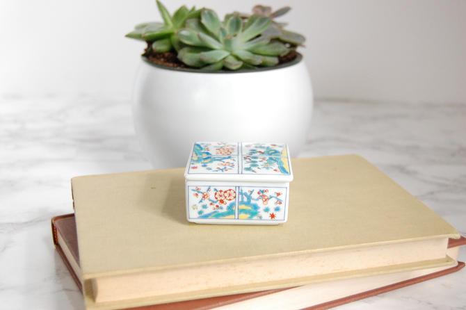 Petite Porcelain Box - Decorative Asian Box - Chinoiserie Decor by PursuingVintage1