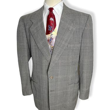Vintage 1940s GLEN PLAID Wool Blazer ~ size 40 to 42 ~ suit jacket / sport coat ~ 40s by SparrowsAndWolves