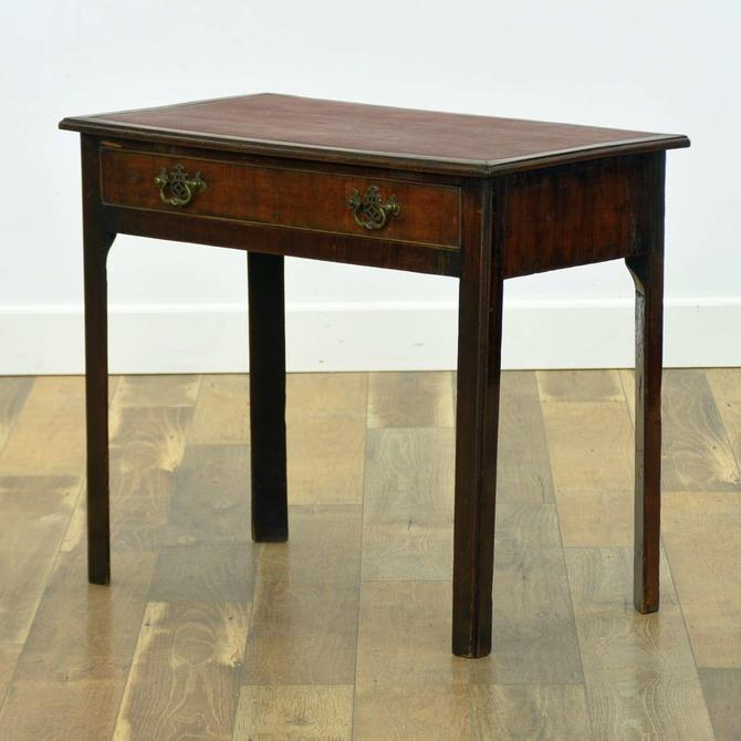 American Traditional Leather Top Writing Desk
