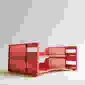 Vintage Red Paper Tray, Letter Holder, Mail Sort, File Sort, Vintage Office Supplies, Eldon Office 1977 Desk Organizer in Red Plastic by LittleDogVintage