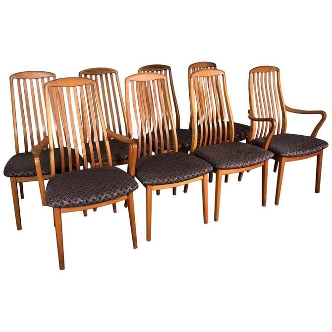 Set of 8 Midcentury Danish Teak Dining Chairs by Dyrlund by RetroPassion21