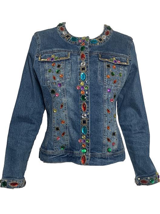 90s Bedazzled Denim Jacket