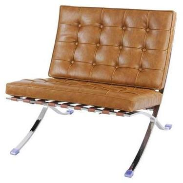 """""""Barca"""" Leather Chair in Caramel"""