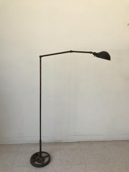 Vintage Patina Brass Floor Lamp