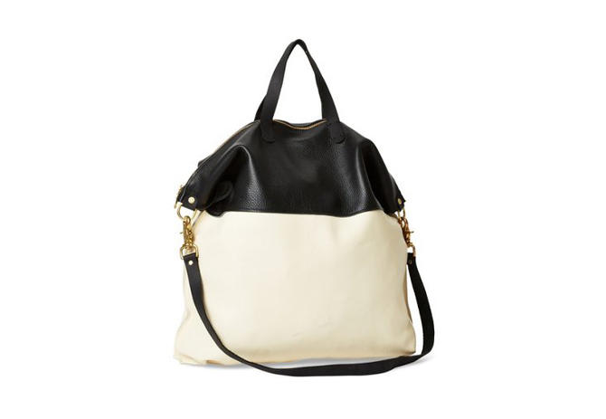 LAIRD OVERNIGHT BAG - CREAM & BLACK