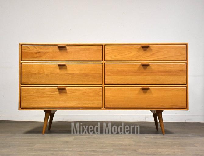 Solid Oak Mid Century Style Dresser by mixedmodern1