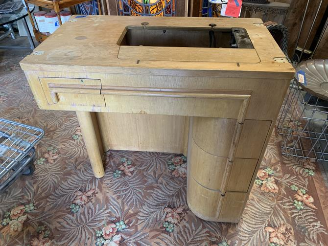 Mid century sewing machine desk