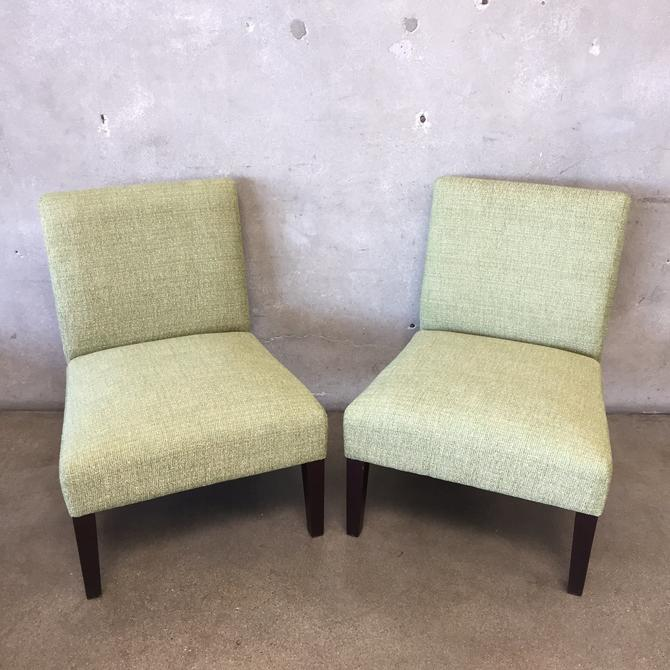 Pair of Contemporary Arm Less Occasional Chairs