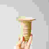Vintage Studio Pottery Vase, Bud Vase, Small Ceramic Vase, White Pottery Vase, Ribbed Vase, Flower Vase, Decorative Vase, Neutral Vase, by LittleDogVintage
