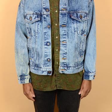 Vintage Acid Wash Levis Denim Jean Biker Jacket by MAWSUPPLY