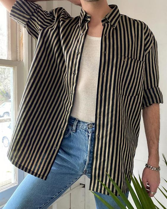 90s Dior Striped Shirt