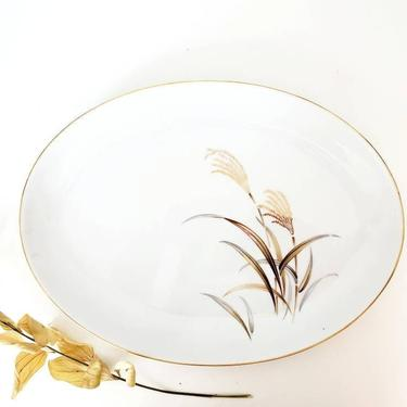 """Beautiful Japanese 16"""" Oval Serving Platter by pennyportland"""