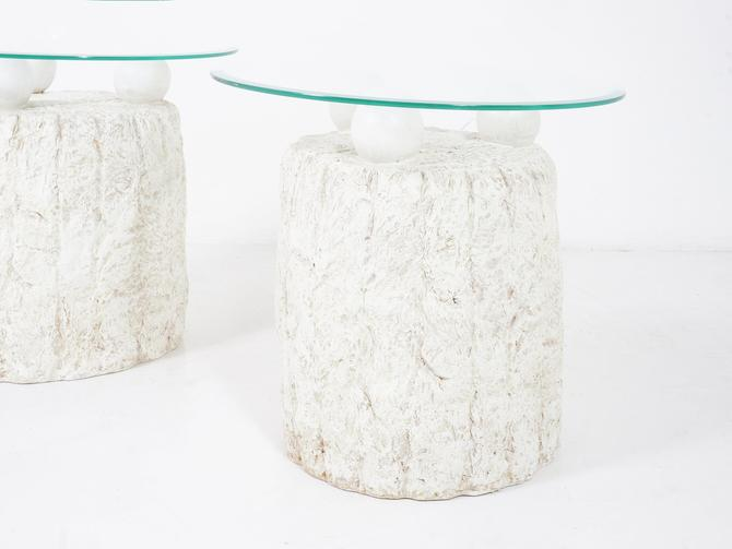 Tessellated Stone Side Tables by BetsuStudio