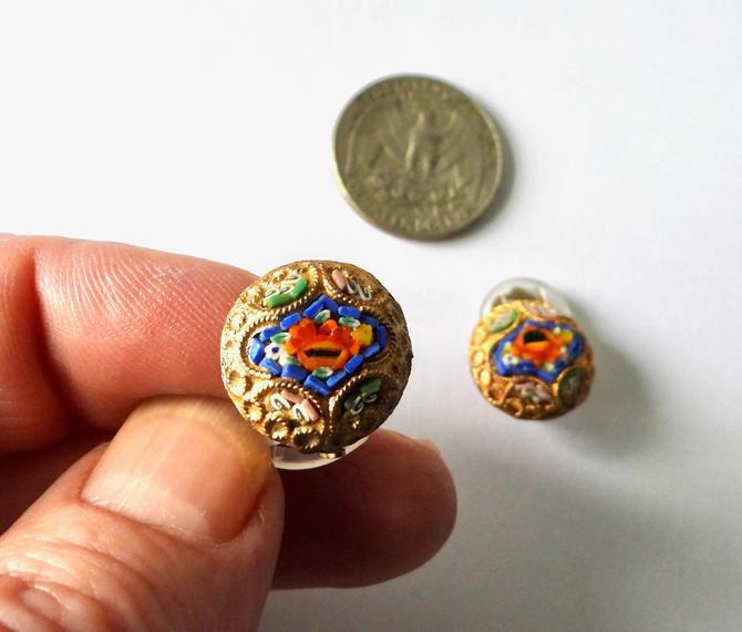 Antique Micro Mosaic Earrings by LegendaryBeast