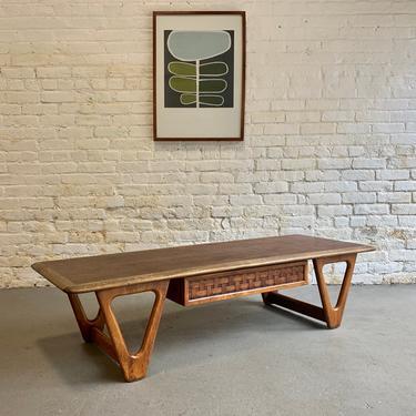 Mid Century Modern Walnut + Oak COFFEE TABLE by Lane Perception by CIRCA60