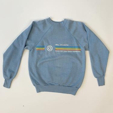 """80's Blue """"Reach Out + Touch Someone"""" Sweatshirt"""