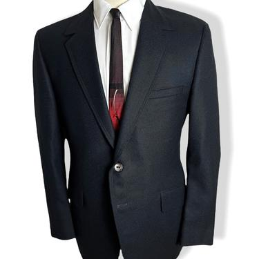 Vintage 1960s/1970s RATNER Wool Flannel Blazer ~ size 38 R ~  jacket / sack sport coat ~ Preppy / Ivy League / Trad ~ Mod by SparrowsAndWolves