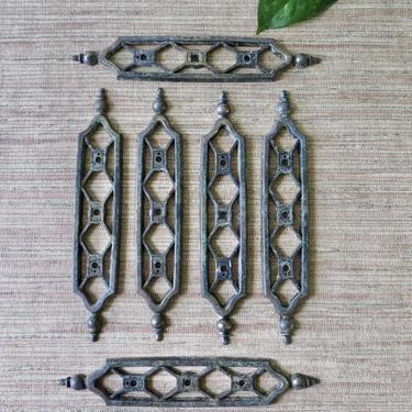 Vintage Decorate Plates - Decorative Brass Plates - Trellis Design - Furniture Plates - Brass Cabinet Hardware - Vintage Decorative Hardware by SoulfulVintage