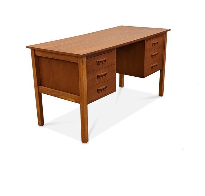 Vintage Danish Mid Century Teak Desk - Sko by LanobaDesign