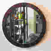 t32 large round midcentury mirror