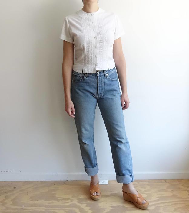 88e9e07661c Vintage Levi 501xx Button Fly Denim Light Wash Boyfriend Jeans ...