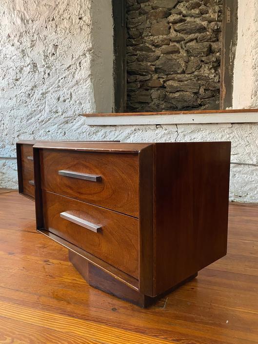 Mid century nightstands Lane nightstand mid century nightstands a pair by VintaDelphia