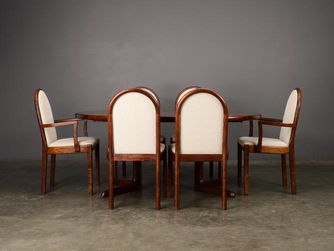 Vintage Dining Set Mahogany Rosewood Danish Modern by MadsenModern
