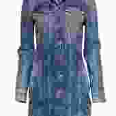 7 For All Mankind - Medium Wash Denim Button-Up Shirt Dress Sz XS