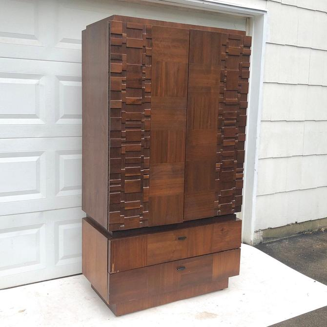 Mid-Century Brutalist Armoire by secondhandstory