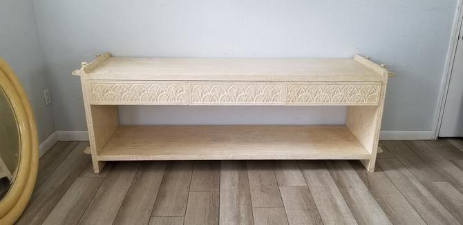 Stunning Overscale Carved Wood Console Table by Kreiss Collection . by MIAMIVINTAGEDECOR