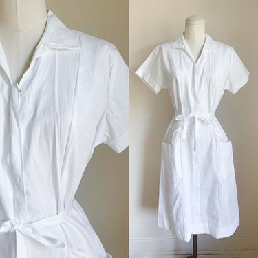 Vintage 1960s Nurse Uniform Dress / M by MsTips