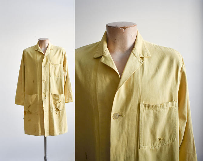 1940s Trashed Yellow Lab Coat by milkandice