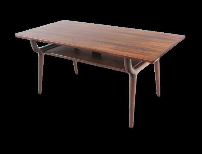 Exceptional Scandinavian Modern Rosewoo Coffee Table by Oman Jun